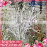 "4"" high quality decoration tree branches white tree branches artificial dry tree branches"