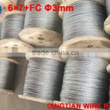 Galvanized Steel wire rope 3mm