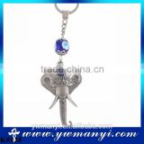 Alloy key chain vintage style keychain, southeast Asian elephant key chain exotic style coloured accessories K0138