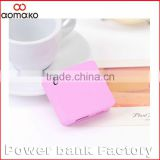 factory promotion power supply W208 Cookie perfume Polymer battery 2000mAh portable charger power bank gift for business