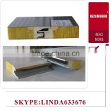Insulation Composition rock wool sandwich panel/prefabricated house materials glass wool factory