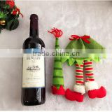2016 new non-woven cheaper popular snowman girl wine bag Christmas tree ornament promotion gift