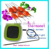 LED Digital food thermometer & BBQ thermometer & Wireless meat thermometer