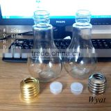 cheap 400ml bulb shape glass beverage bottles with lids 14oz manufacturer                                                                         Quality Choice