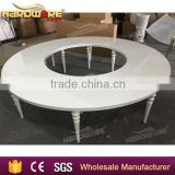wholesale round moon wedding banquet table , white top dining table                                                                                                         Supplier's Choice