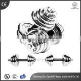 stainless steel dumbbell men bodybuilding dumbbell fitness Electroplating dumbbell with 1-50kg                                                                                                         Supplier's Choice