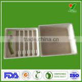 China manufacturer new design high quality biodegradable bagasse pulp anti-knock packaging trays for electronic component