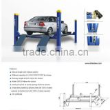 Four Post Hydraulic car repair lift car workshop equipment 3.5T/4T/5T/6T/7T/8T for choice