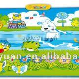 2012 hot item, baby music play mat, butterfly play mat