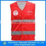 Cheap china wholesale working garment hi vis red safety vest