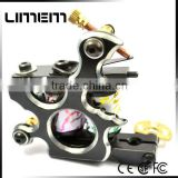 Hot sale professional design shader &liner 10 coils black iron tattoo machine tattoo gun