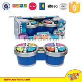 kids plastic drum toy battery operated musical Instrument round Drum baby toy with light plastic drum