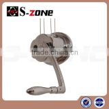Balcony ceiling mechanical lifting clothes hanger with pulley