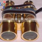 Nautical Brass Binocular with Leather Belt