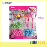 Popular blister card diy rubber looms beads kit make rain loom bracelet