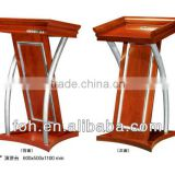 Hardware wood modern church podium, Hotel reception podium stand(FOHK-5)