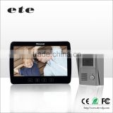 Largest screen 10 inch TFT-LCD 500tvline smart home video / audio intercom system villa ring bell door bell with camera