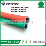 pvc welding hose , gas cutting hose,bule and red color ,high preuusre hose