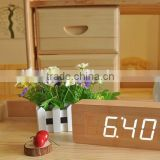 2016 hot sale cheap digital Wooden wood LED Alarm Clock, Wooden Digital Table Clocks For Promotion Gift