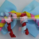 Korker hair bow Alligator clips mixcolor hairpin BLUE