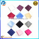 Factory Price Solid Color Soft Silk Wedding Pocket Square For Mens Wholesale