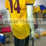 100% Polyester custom tackle twill american football Uniforms with Du-arable material