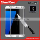 2016 mobile phone accessories! For Samsung galaxy S7 edge new brand tempered glass screen protector