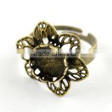 Antique Bronze Brass Jewelry Rings Base Blank Setting