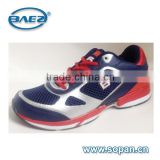 new popular styles of navy red silver men sport shoes