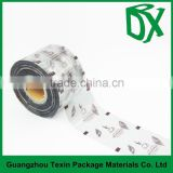 Food grade Plastic Cup Sealing Film in roll/instant milk tea Laminated Packaging Film Rolls