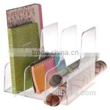 New design factory cardboard book shelf acrylic magazine rack book case