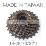 Taiwan made - 7 speed - 14-28T - freewheel