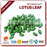 Burn Fat Capsules Pure Lotus Leaf Folium Nelumbinis Extract Soft Gel