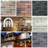 Faux fire thin brick veneer for fireplace decor