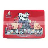 delicate tin can sour candy,fruit candy tin can,high-end candy tin box with lid