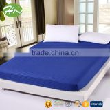 Hotel 100% cotton plain dyed full size fitted bed sheet