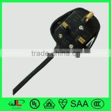 Top quality power cord with UK standard 3 pin BS 1363 male plug