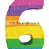 Wholesale Number 6 Party Pinata, DIY Number Pinata,Kids Birthday Party Goods products partyware