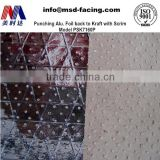 Perforated aluminum composite kraft panels scrim reinforced for fireproof roof insulation