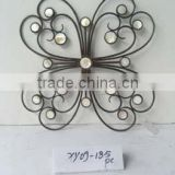 Handicraft Wall Plaque Grill Metal glass outdoor garden decorations wrought iron butterfly wall decor
