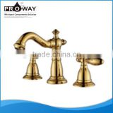 Classic Luxury Bathroom Taps and Mixers Golden Basin Faucet Gold Basin Taps