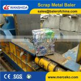 China Used Aluminum cans/aluminum extrustion/copper/metal scrap baling press/compactor/baler press machine Manufacturer