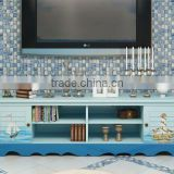 Mediterranean Style TV Cabinet, Sailing Boat Handpainting TV Stand, Solid Wood Living Room TV Cabinet (BF01-X1156)