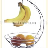 Hot sale chrome metal wire banana hanger fruit bowl