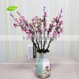 GNW BLB-CH1605020 Near natural Wholesale Long Stem Silk Flower Pink plum blossom for sale