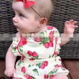 Promotion In-stock baby girl rompers ruffle rompers set New Style