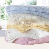 high quality wholesale 100% cotton handmade baby crochet thow knitted blanket