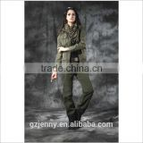 2016 Malaysian Combat Suit Women Green Army Jacket & Army Trousers Dress Uniform