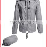 Provide sample 2016 adult foldable waterproof rain jacket rain coat women's rain jacket