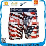 Mens Seamless Boxer Briefs American Flag Boxer Shorts Swimsuit Underwear